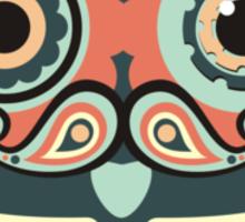 crochet hook owl paisley mustache steampunk skeleton Sticker