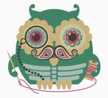 sewing seamstress owl paisley mustache steampunk skeleton Kids Clothes
