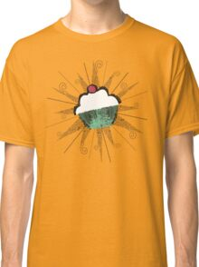 pop art cherry topped cupcake light t-shirt Classic T-Shirt