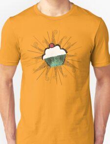 pop art cherry topped cupcake light t-shirt T-Shirt