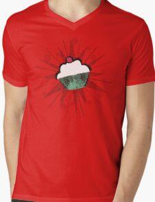 pop art cherry topped cupcake light t-shirt Mens V-Neck T-Shirt