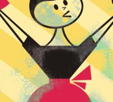 Happier World retro baking cupcake poster Sticker