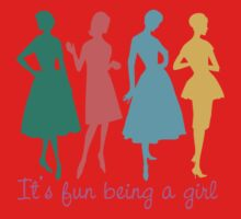 It's fun being a girl retro dress pattern models Kids Clothes