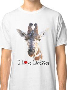 Adorable Giraffe Portrait Classic T-Shirt