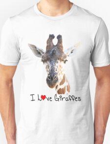 Adorable Giraffe Portrait Unisex T-Shirt
