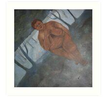 Acheulian Goddess Canvas Print Art Print