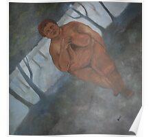 Acheulian Goddess Canvas Print Poster