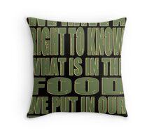 Our Bodies Our Food - Monsanto Throw Pillow