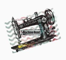Vintage grunge sewing machine rickrack machine head One Piece - Short Sleeve