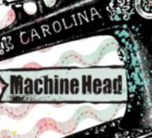 Vintage grunge sewing machine rickrack machine head Sticker