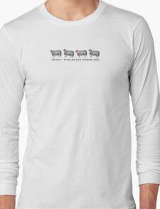 Vintage sheep fresh yarn funny knitting crochet t-shirt Long Sleeve T-Shirt