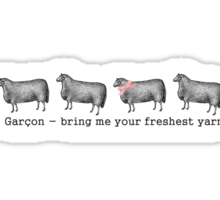 Vintage sheep fresh yarn funny knitting crochet t-shirt Sticker