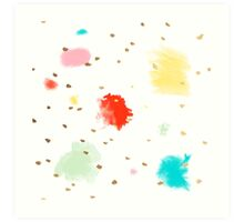 Cupcake Sprinkles, Dash of Gold Art Print