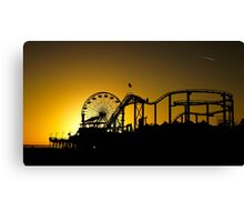 The rides at sunset Canvas Print