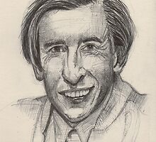 Alan Partridge Portrait by stevebeadleart