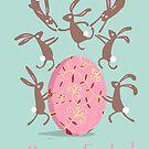 ACROBATIC EASTER BUNNIES by Jane Newland