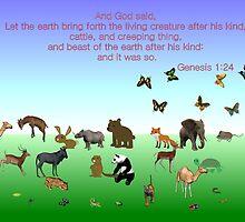 Genesis 1:24 - In The Beginning by aprilann