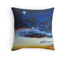 Twilit Winter Sky Throw Pillow