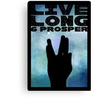 Live Long & Prosper Canvas Print