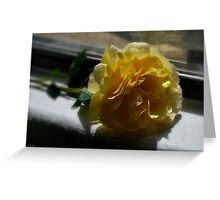 """""""You stole my heart but left a rose """" Greeting Card"""