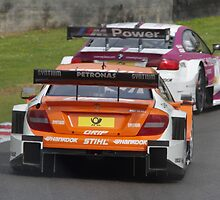 DTM Brands Hatch 2013 - #16 Andy Priaulx (GBR), BMW M3 / #10 Robert Wickens (CAN) Mercedes AMG c by motapics