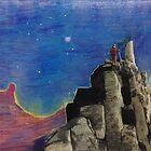 Hiker in the Sky by jonezajko