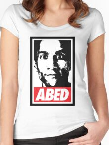 OBEY ABED, COOL? Women's Fitted Scoop T-Shirt