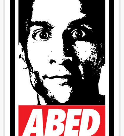 OBEY ABED, COOL? Sticker