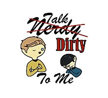 Talk Nerdy To Me (Kirk Edition) Photographic Print