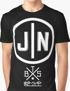 Jin - BTS Member Logo Series (White) Graphic T-Shirt