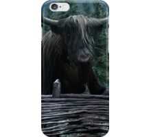 Sophisticated Cow of The Highland iPhone Case/Skin