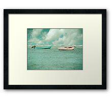 Puerto Rican Fishing Boats Framed Print