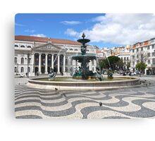 Fountain - Rossio Square, Lisbon Canvas Print