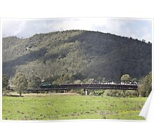 Steam Loco 3642 Paterson River, NSW Australia Poster