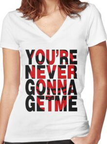 Never Gonna Get Me Women's Fitted V-Neck T-Shirt