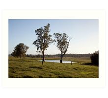 Farmlands, Buchanan NSW Australia Art Print