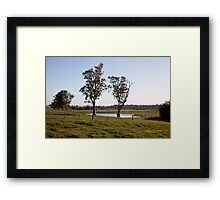 Farmlands, Buchanan NSW Australia Framed Print