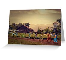 POW - Prisoners of War pixel art Greeting Card
