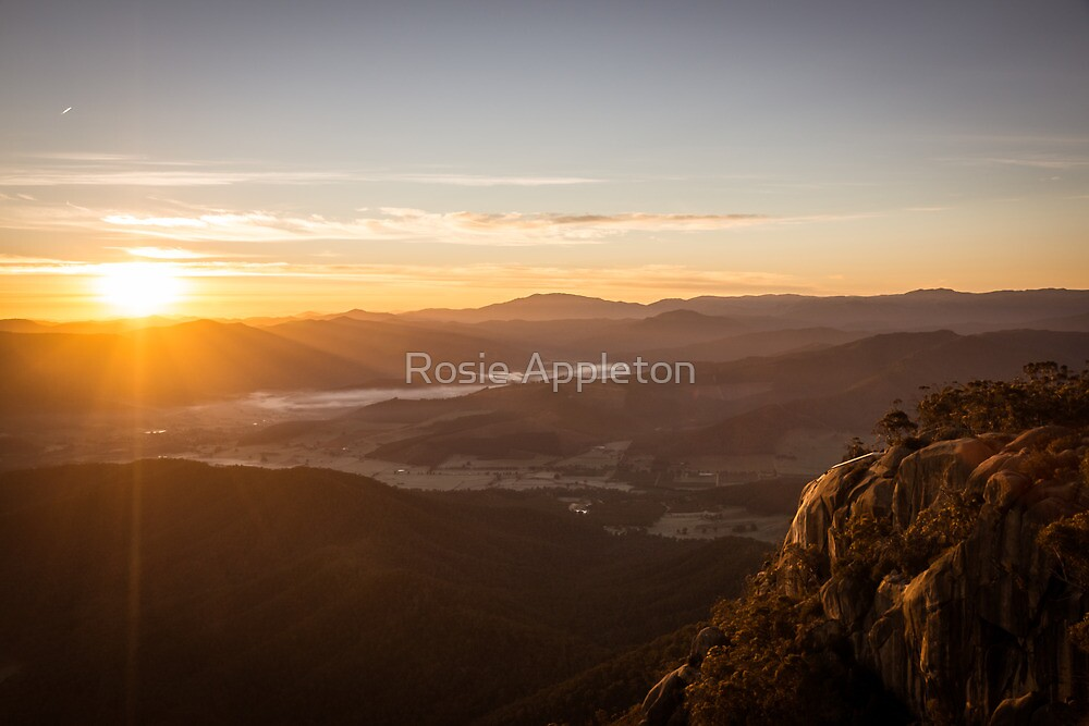 Sunrise over a sleepy valley by Rosie Appleton