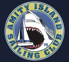 Amity Island Sailing Club (White border) T-Shirt