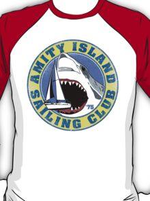 Amity Island Sailing Club (White border) T-Shirt