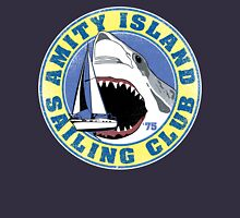 Amity Island Sailing Club (White border) Unisex T-Shirt