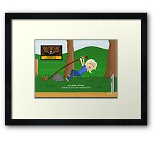 Echidna Tipping (for relocation & preservation) Framed Print