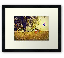 Nintendo Duck Hunt (no HUD) retro pixel art Framed Print