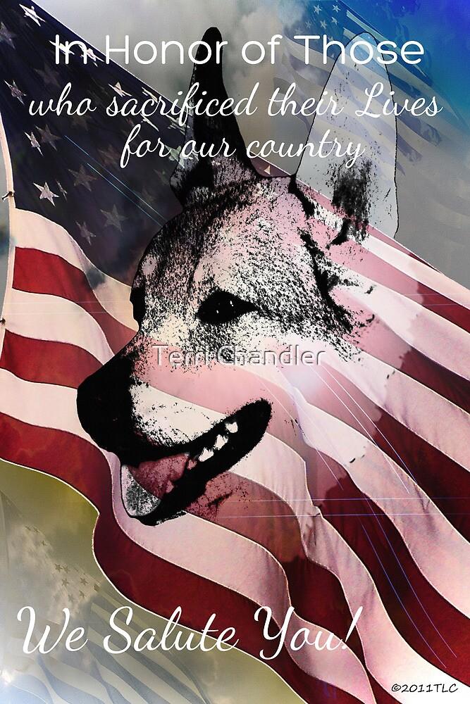 We Salute You Memorial Day 2013 by Terri Chandler