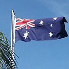 Flying in the Backyard - Australian Flag by EdsMum