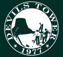 Devils Tower, 1977 (White Print) by GritFX