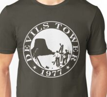Devils Tower, 1977 (White Print) Unisex T-Shirt