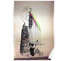 Rainbow Shampoo And Shower Poster