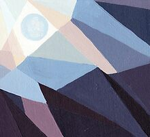 Blue Moon - Abstract Acrylic Skyscape by Brenna Giessen